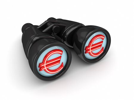 Binoculars with euro symbol  photo