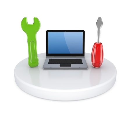 netbooks: Tech support concept  Stock Photo