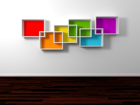 Modern shelves Stock Photo - 14097671