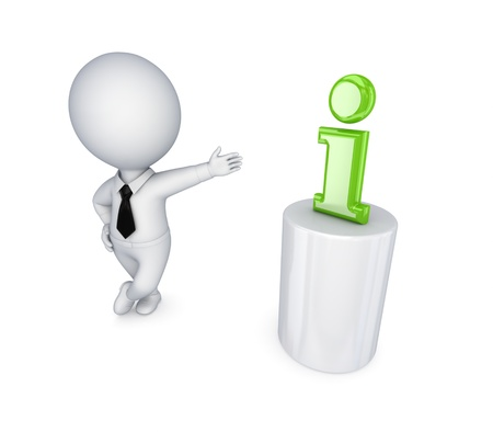 3d small person and Info symbol  photo