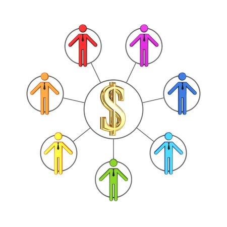 Business network concept  Stock Photo - 14452372