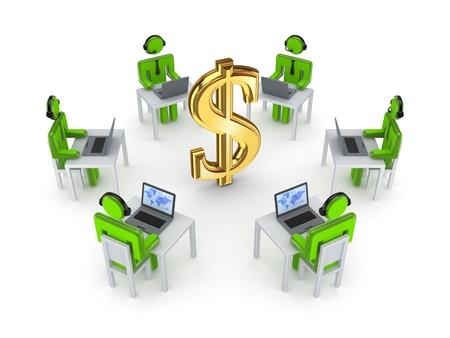 credit union: Business network concept