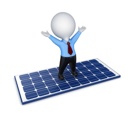 Solar energy concept  Stock Photo - 15430392
