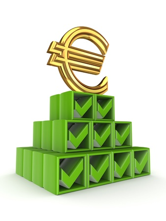 Financial pyramid concept  Stock Photo - 15430382