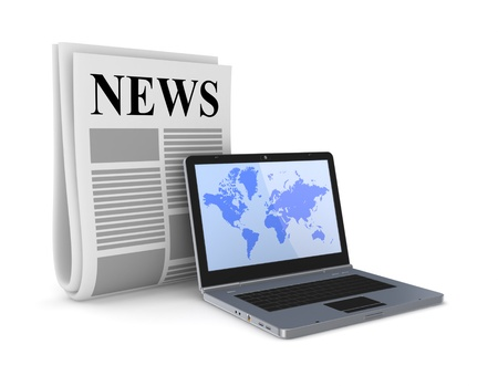 Stylized newspaper and notebook  Stock Photo - 15430350