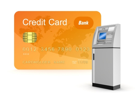 Credit card and ATM  Stock Photo - 15534282