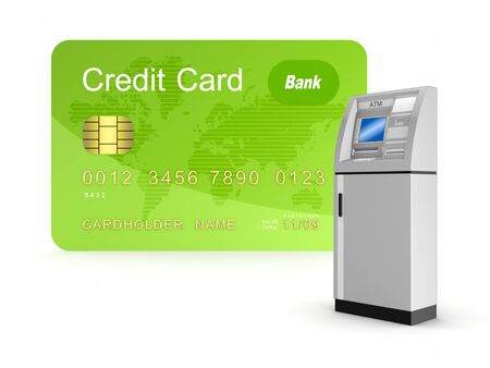 Credit card and ATM Stock Photo - 15534246