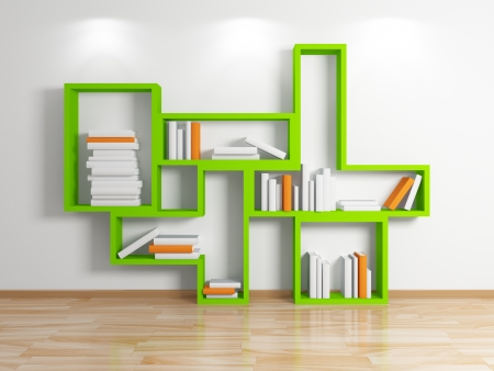 Modern shelf  Stock Photo - 15536025
