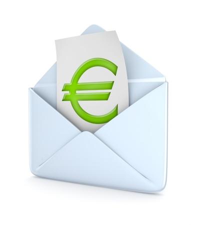 Envelope with euro symbol  photo