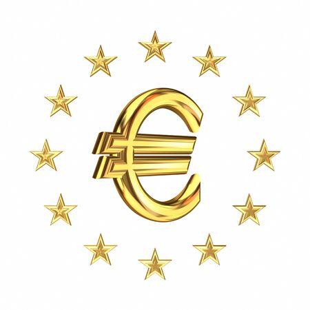 european exchange: European Union symbol and euro sign