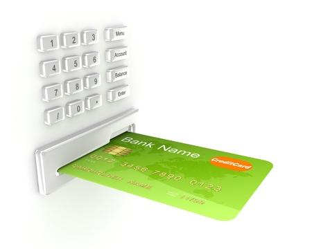 plastic money: Atm concept