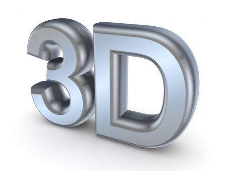 the third dimension: Word 3D  Stock Photo