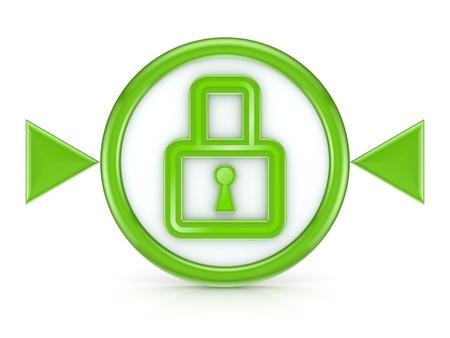 Lock icon Stock Photo - 15533996