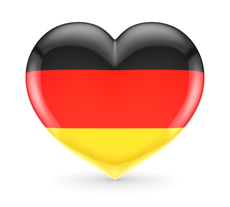German flag on a heart  Reklamní fotografie
