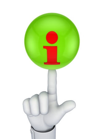 Info icon on a green sphere  Stock Photo - 15533715
