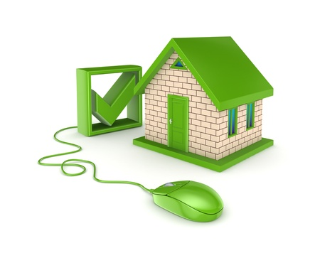 house mouse: Real estate online concept  Stock Photo