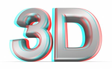 stereoscope: 3D movie concept  Stock Photo