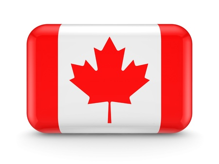 Canadian flag icon Stock Photo - 15614325