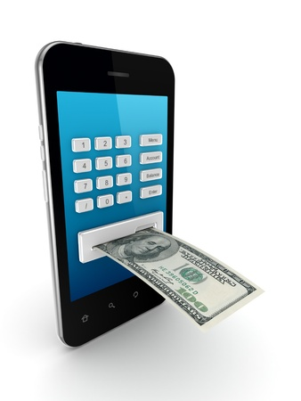 mobile banking: Online payments concept