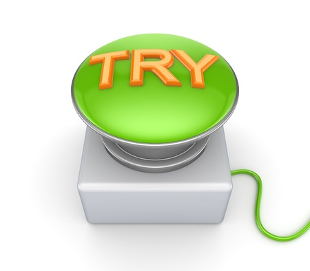 try: TRY button  Stock Photo