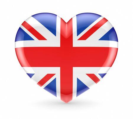 British flag on a heart symbol  photo