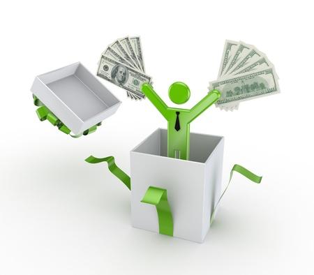 win money: Profit concept