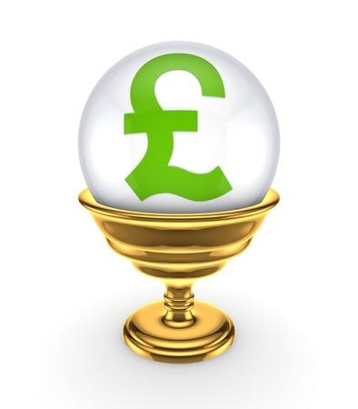 Pound sterling sign on a white sphere Stock Photo - 15672327