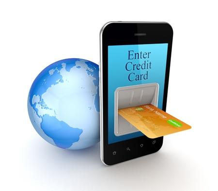 international sales: Online payment concept  Stock Photo