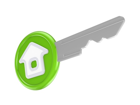 Key with a house icon  Stock Photo - 15638905