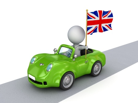 Small car with british flag  photo