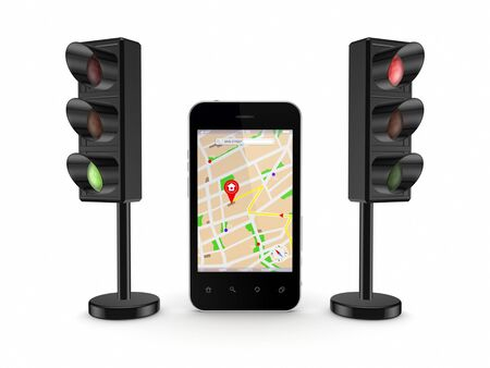 Mobile GPS concept  photo