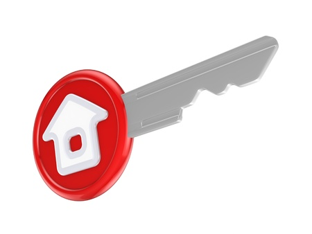 Key with a house icon  Stock Photo - 15638911