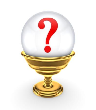 questionail: Signo de interrogaci�n rojo en una esfera blanca Foto de archivo