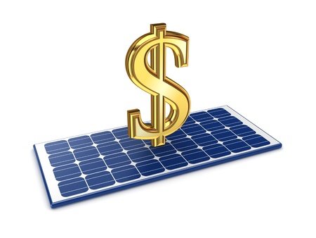 electricity prices: Solar energy concept