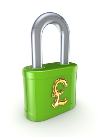 Green lock with golden dollar sign Stock Photo - 15648951