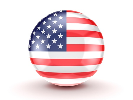 American flag icon  Stock Photo - 15648960