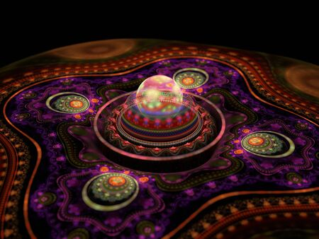 3d rendered abstract composition