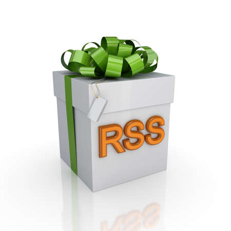 Gift box with a signature RSS  Stock Photo - 15667105