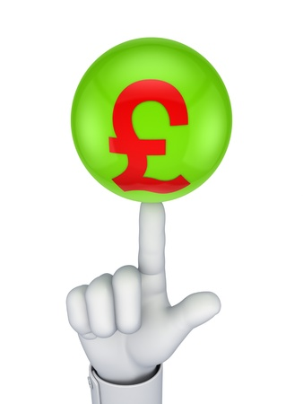 Pound sterling concept Stock Photo - 15667739