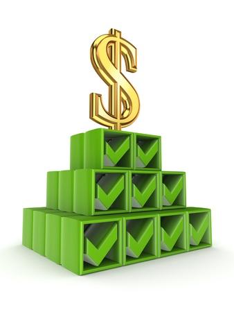 Financial pyramid concept  Stock Photo - 15666974