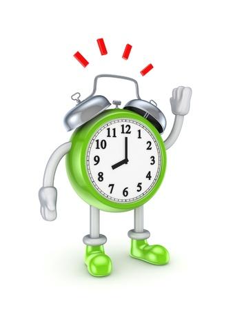 punctual: Reloj verde estilizado