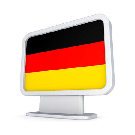 lightbox: Lightbox with German flag  Stock Photo