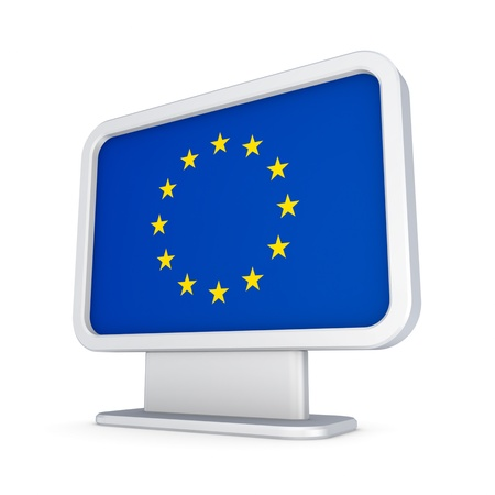 lightbox: EU flag in a lightbox