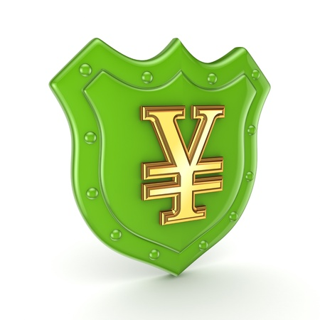 the backplate: Yen symbol on a backplate