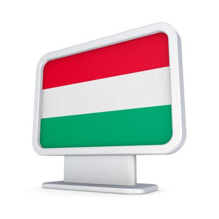 lightbox: Hungarian flag in a lightbox