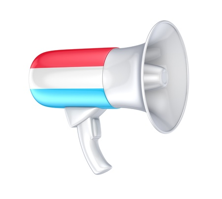 Loudspeaker with luxembourgian flag  photo