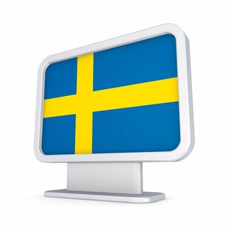 lightbox: Swedish flag in a lightbox