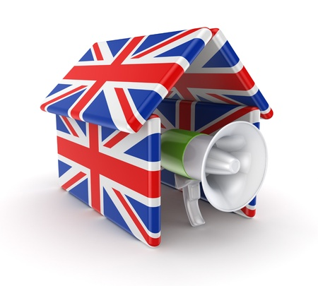 hone: Mega hone under the roof made on british flags