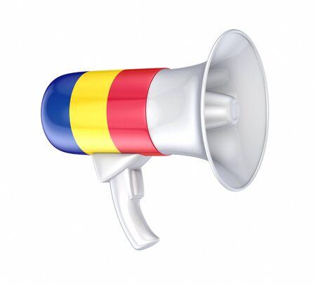 Loudspeaker with romanian flag Stock Photo - 17535537