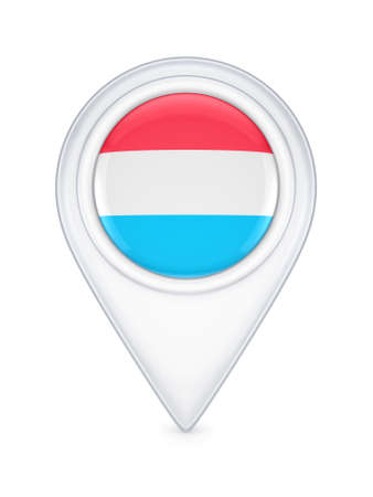 Icon with luxembourgian flag  photo